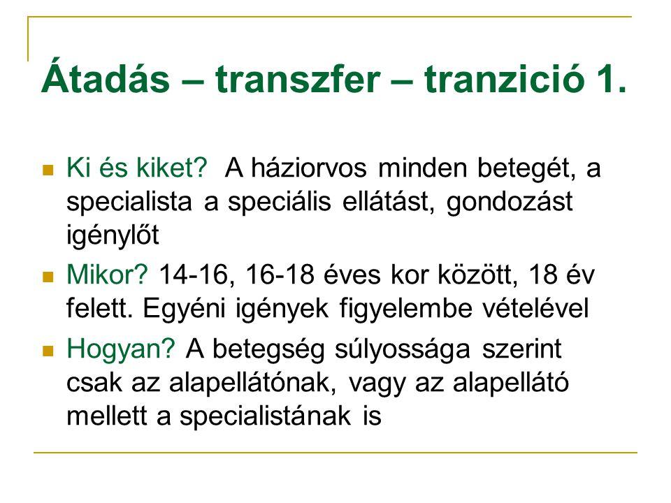 Átadás – transzfer – tranzició 1.Ki és kiket.