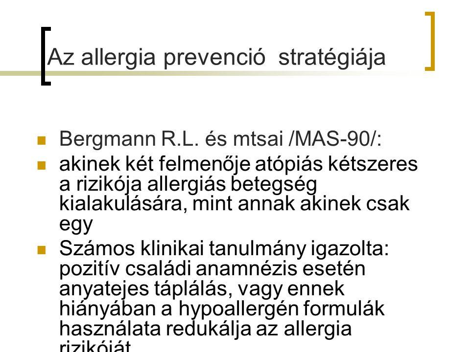 Az allergia prevenció stratégiája Bergmann R.L.
