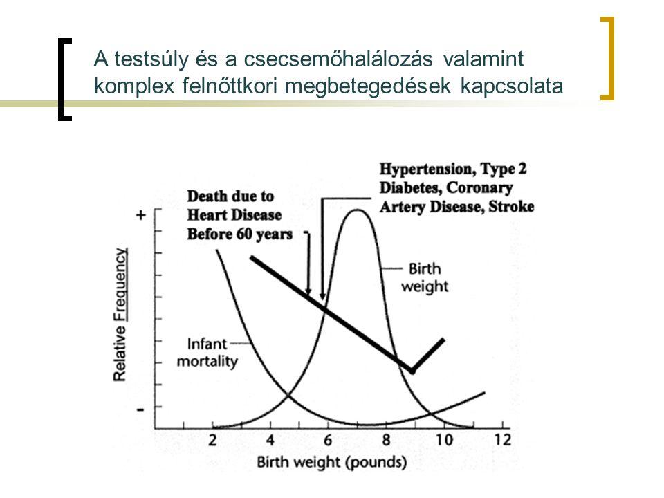 A testsúly és a csecsemőhalálozás valamint komplex felnőttkori megbetegedések kapcsolata