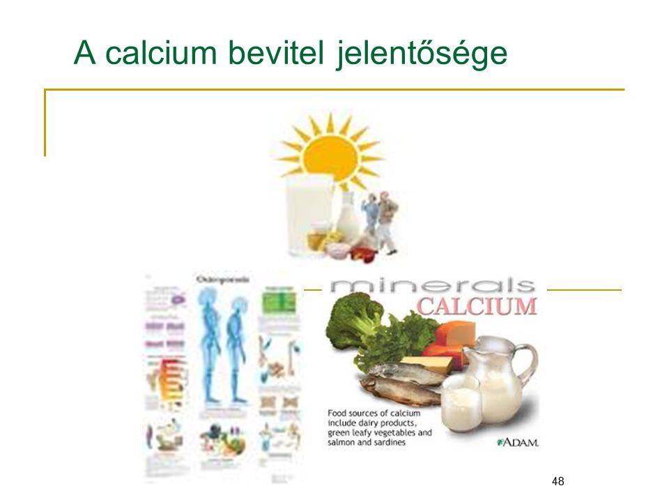 48 A calcium bevitel jelentősége 48