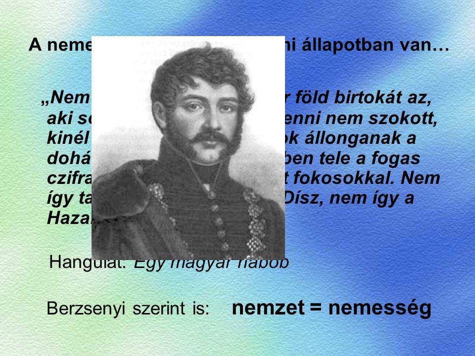 """A nemesség szomorú szellemi állapotban van… """"Nem érdemli meg a magyar föld birtokát az, aki soha magyar könyvet venni nem szokott, kinél egyedül kalen"""