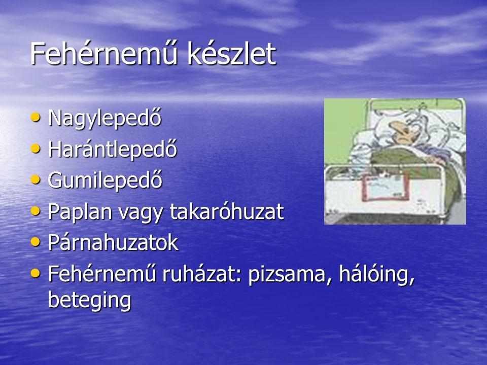 Fehérnemű készlet Nagylepedő Nagylepedő Harántlepedő Harántlepedő Gumilepedő Gumilepedő Paplan vagy takaróhuzat Paplan vagy takaróhuzat Párnahuzatok P