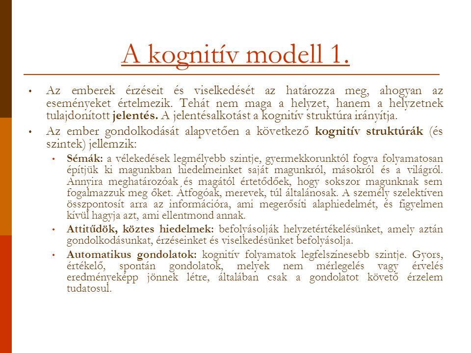 A kognitív modell 1.