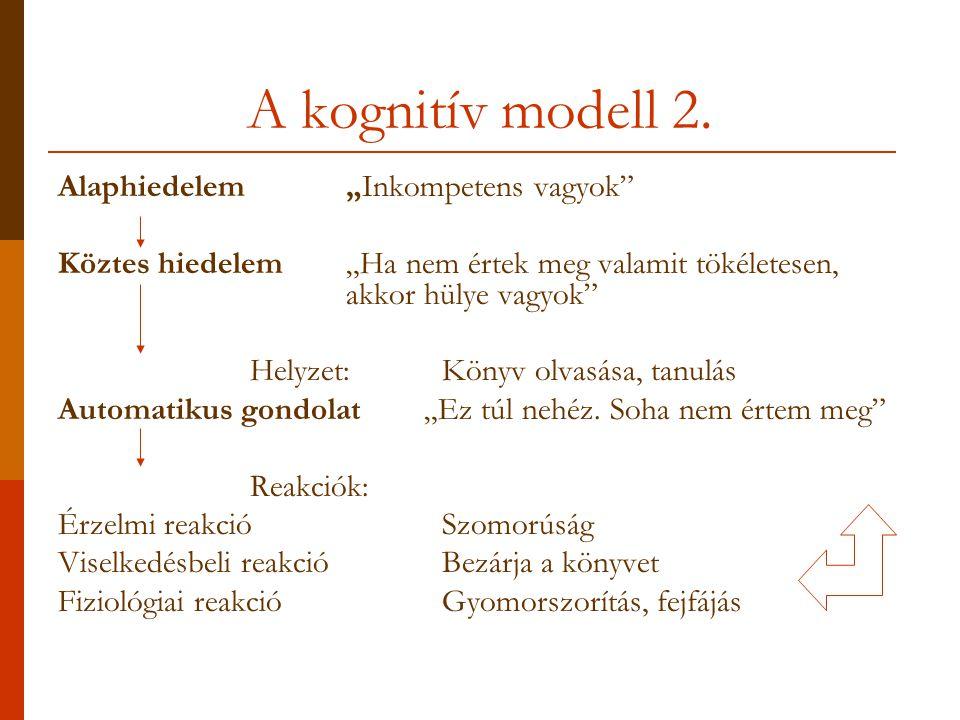 A kognitív modell 2.