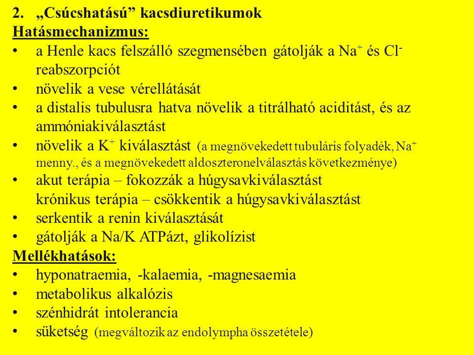 Felhasználás: tüdő-, agyoedema veseelégtelenség szisztémás hyperkalcaemia hypertonia Gyógyszerek: furosemid FUROSEMID tbl., inj.