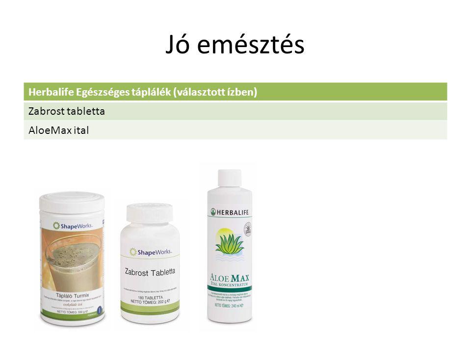 Jó emésztés Herbalife Egészséges táplálék (választott ízben) Zabrost tabletta AloeMax ital