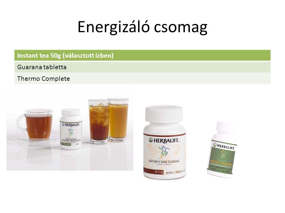 Energizáló csomag Instant tea 50g (választott ízben) Guarana tabletta Thermo Complete