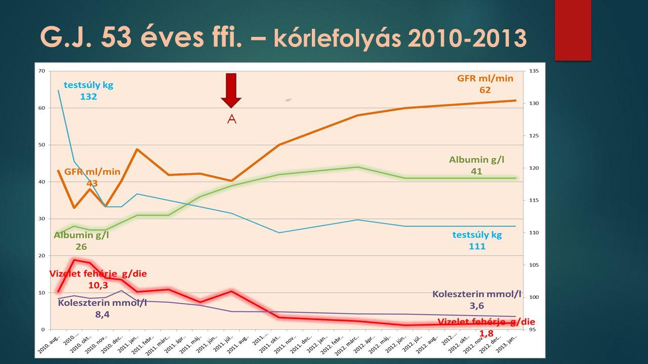 G.J. 53 éves ffi. – kórlefolyás 2010-2013 A