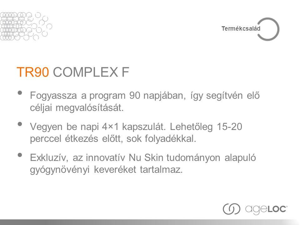 TR90 COMPLEX F Fogyassza a program 90 napjában, így segítvén elő céljai megvalósítását. Vegyen be napi 4×1 kapszulát. Lehetőleg 15-20 perccel étkezés
