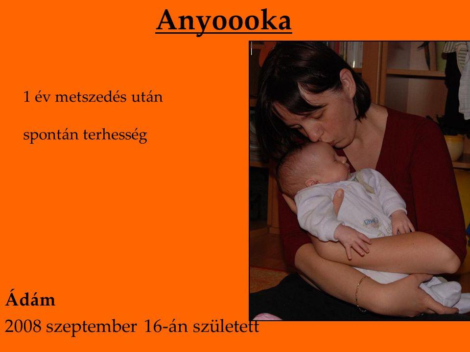 Anyoooka 1 év metszedés után spontán terhesség Ádám 2008 szeptember 16-án született
