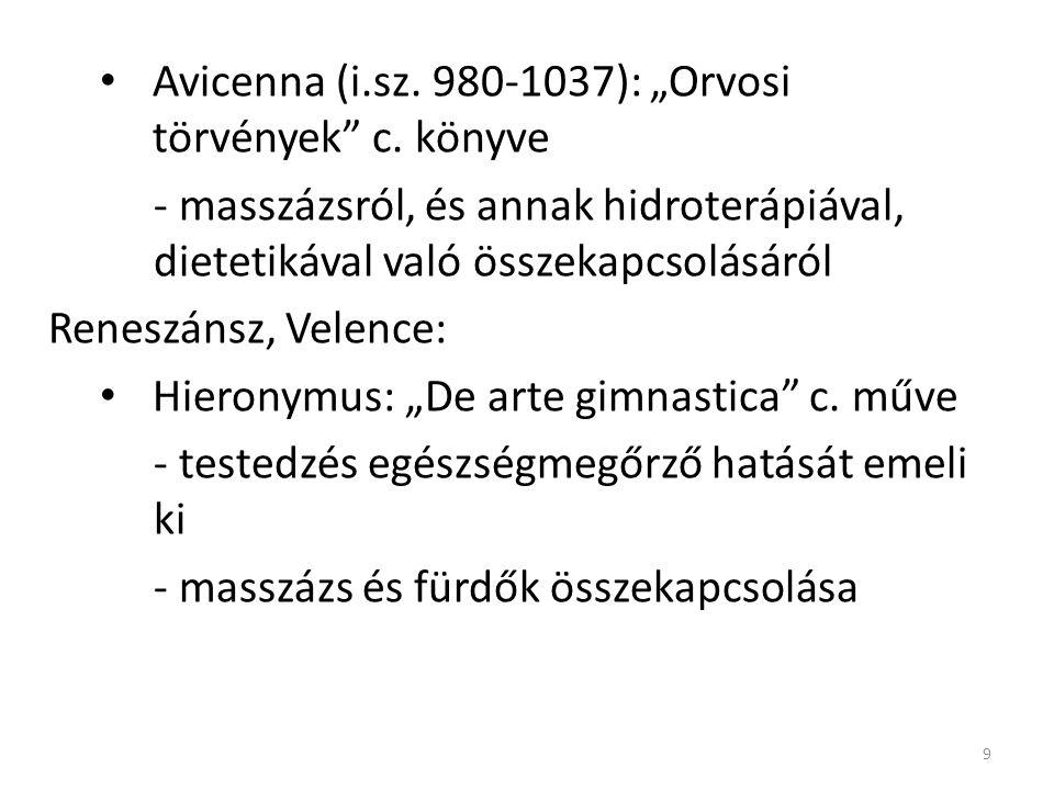 """Avicenna (i.sz.980-1037): """"Orvosi törvények c."""