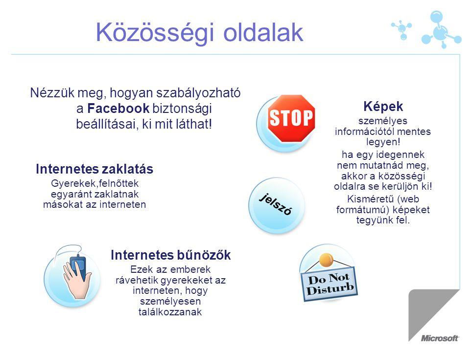 Közösségi oldalak Nézzük meg, hogyan szabályozható a Facebook biztonsági beállításai, ki mit láthat.
