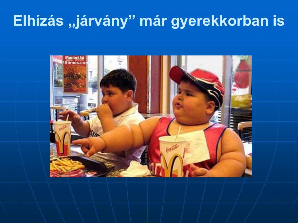 """Elhízás """"járvány már gyerekkorban is"""