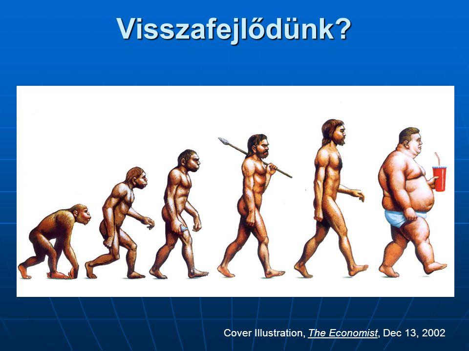 Visszafejlődünk? Cover Illustration, The Economist, Dec 13, 2002