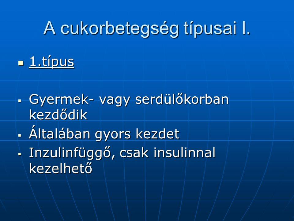 A cukorbetegség típusai II.