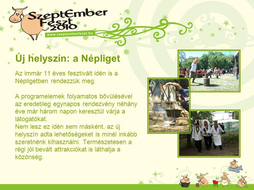Új helyszín: a Népliget Az immár 11 éves fesztivált idén is a Népligetben rendezzük meg. A programelemek folyamatos bővülésével az eredetileg egynapos