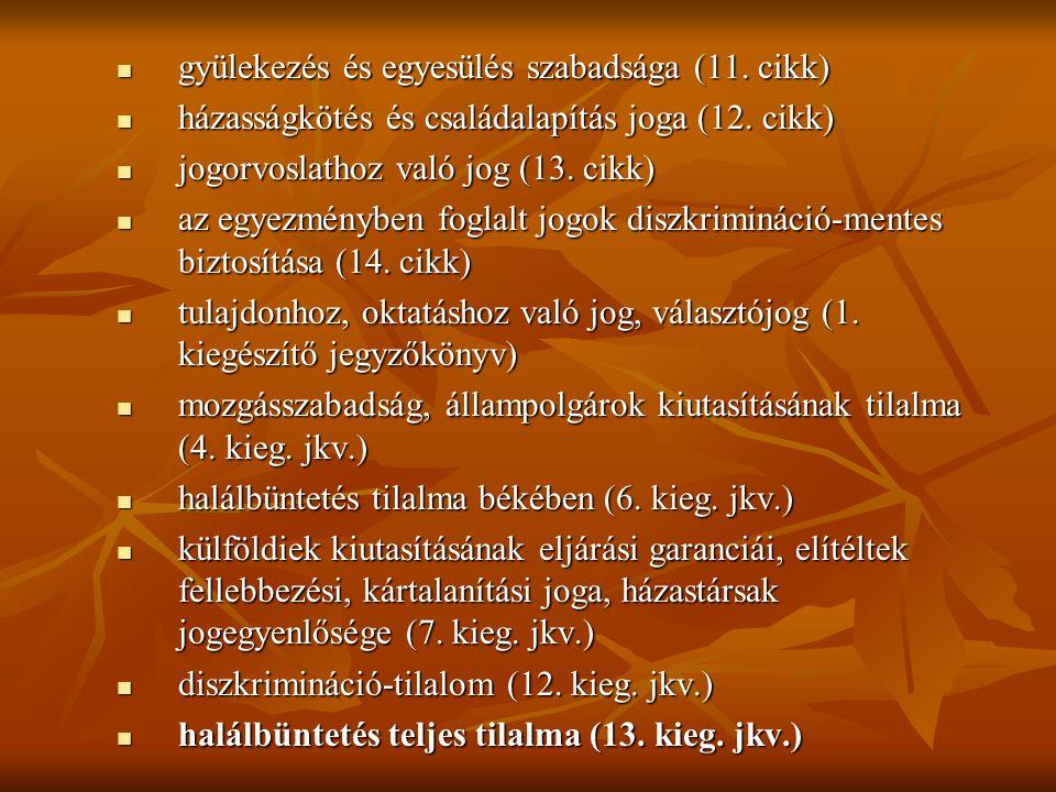 1.2.Az Emberi Jogok Európai Bírósága (E.Ct.H.R., EJEB) 1998-ig (11.