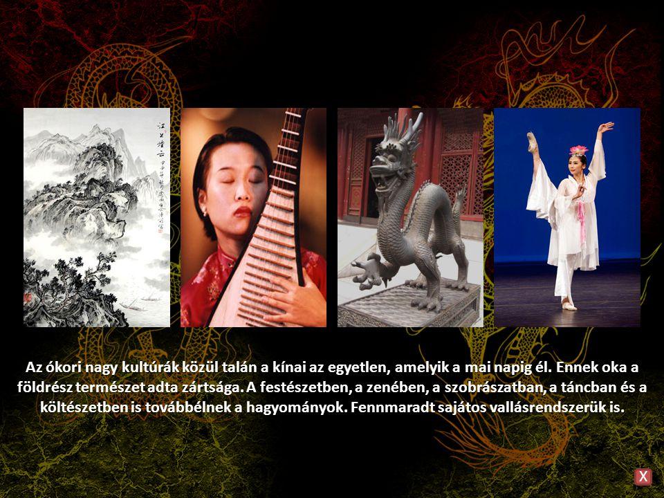 Az ókori nagy kultúrák közül talán a kínai az egyetlen, amelyik a mai napig él. Ennek oka a földrész természet adta zártsága. A festészetben, a zenébe