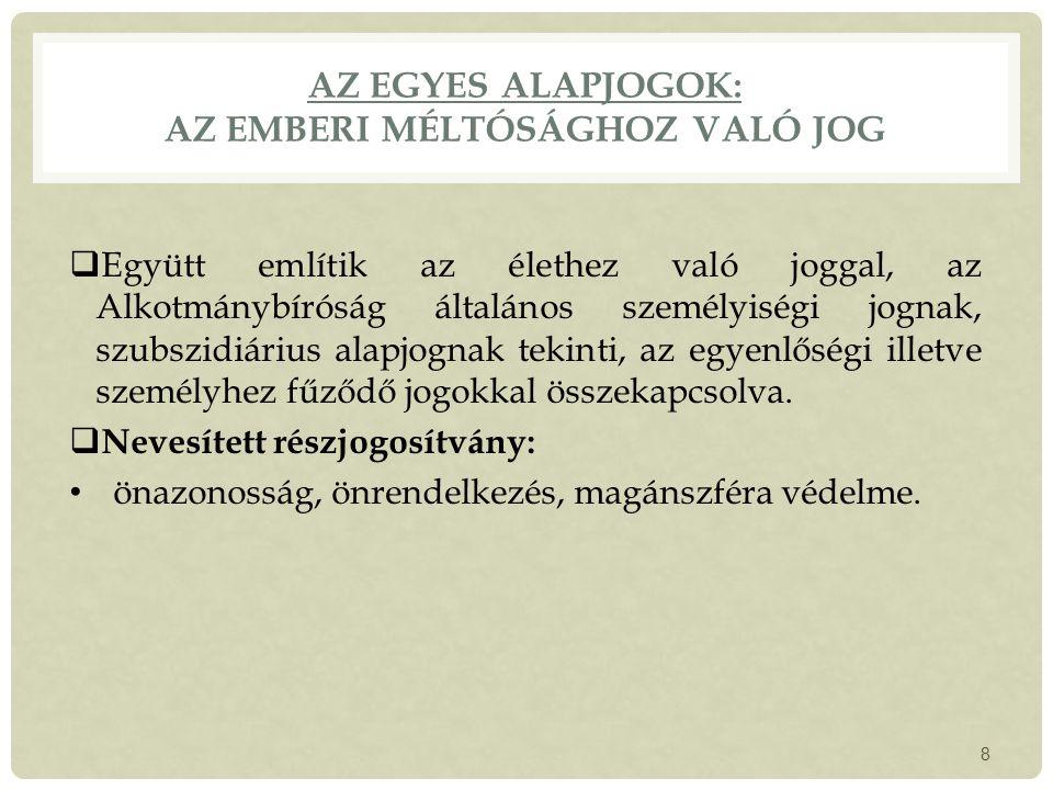 A KORMÁNY  Kormányzati tevékenység  A Kormány feladat- és hatáskörei  A Kormány létrejötte, megbízatása miniszterelnök megválasztása, kormányprogram, miniszterek kinevezése A Kormány megbízatásának megszűnése - Konstruktív bizalmatlansági indítvány, bizalmi szavazás 29