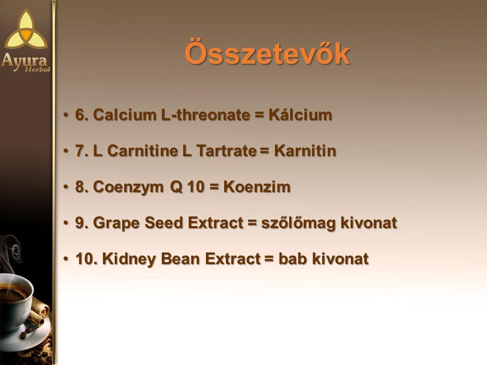 Összetevők Összetevők 6.Calcium L-threonate = Kálcium6.