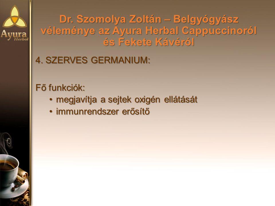 Dr.Szomolya Zoltán – Belgyógyász véleménye az Ayura Herbal Cappuccinoról és Fekete Kávéról 4.
