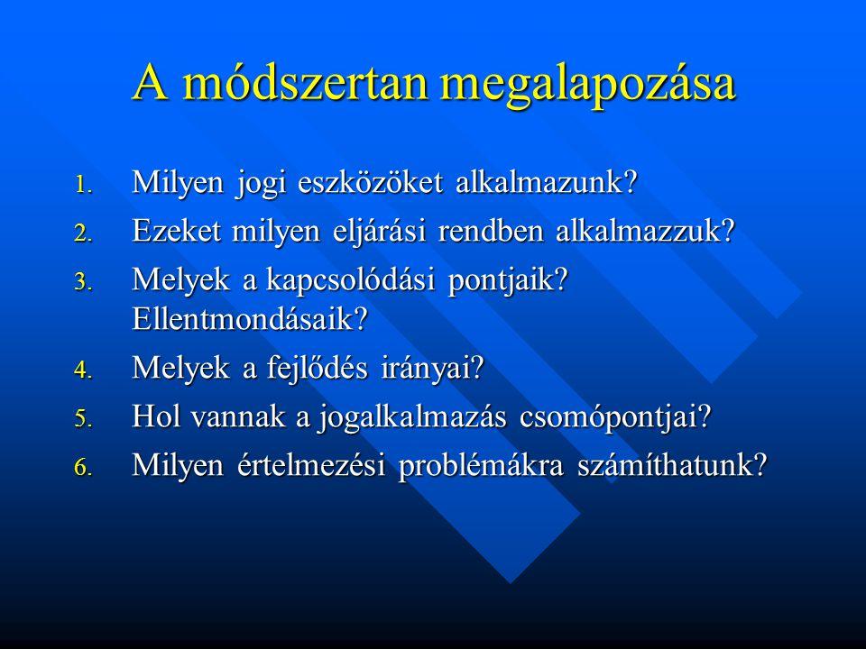 A magyar szabályozásban: 1995.évi LIII. tv. 4.§ 1995.