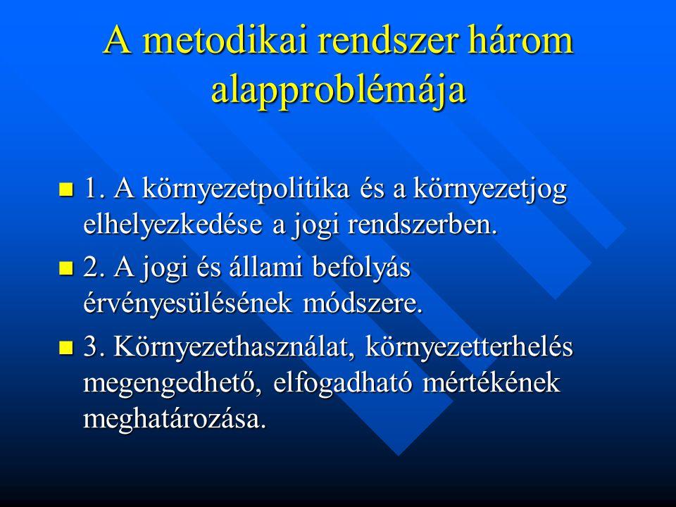 A metodikai rendszer három alapproblémája 1.