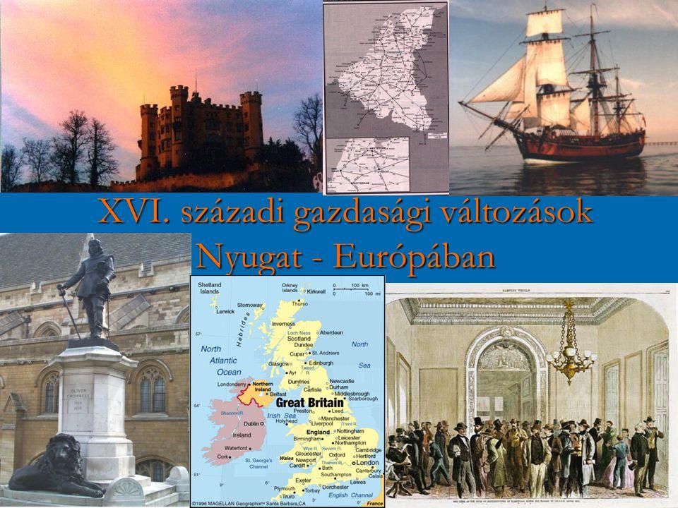 XVI. századi gazdasági változások Nyugat - Európában