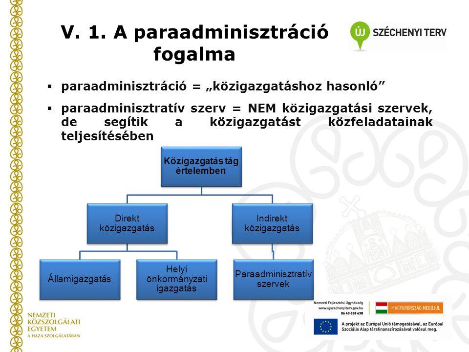 """ paraadminisztráció = """"közigazgatáshoz hasonló""""  paraadminisztratív szerv = NEM közigazgatási szervek, de segítik a közigazgatást közfeladatainak te"""