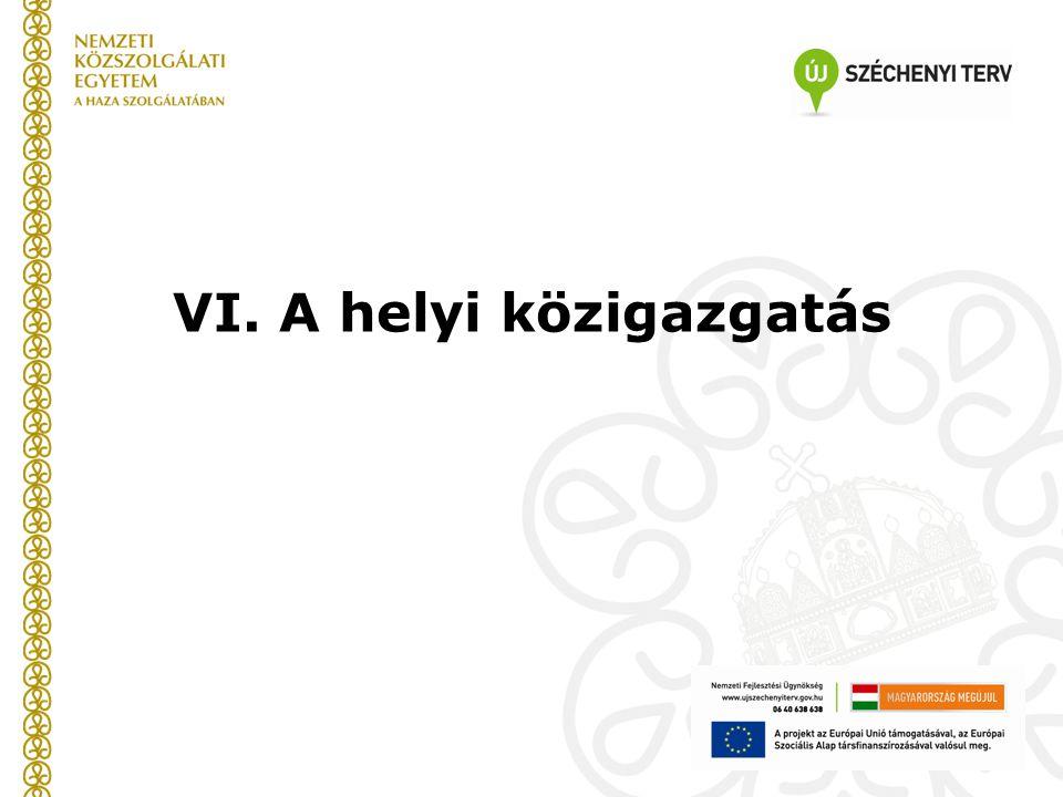 VI. A helyi közigazgatás