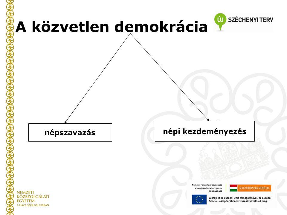 A közvetlen demokrácia népszavazás népi kezdeményezés