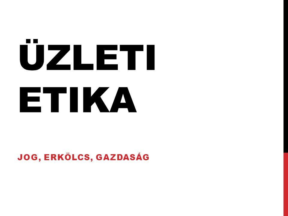 ÜZLETI ETIKA JOG, ERKÖLCS, GAZDASÁG