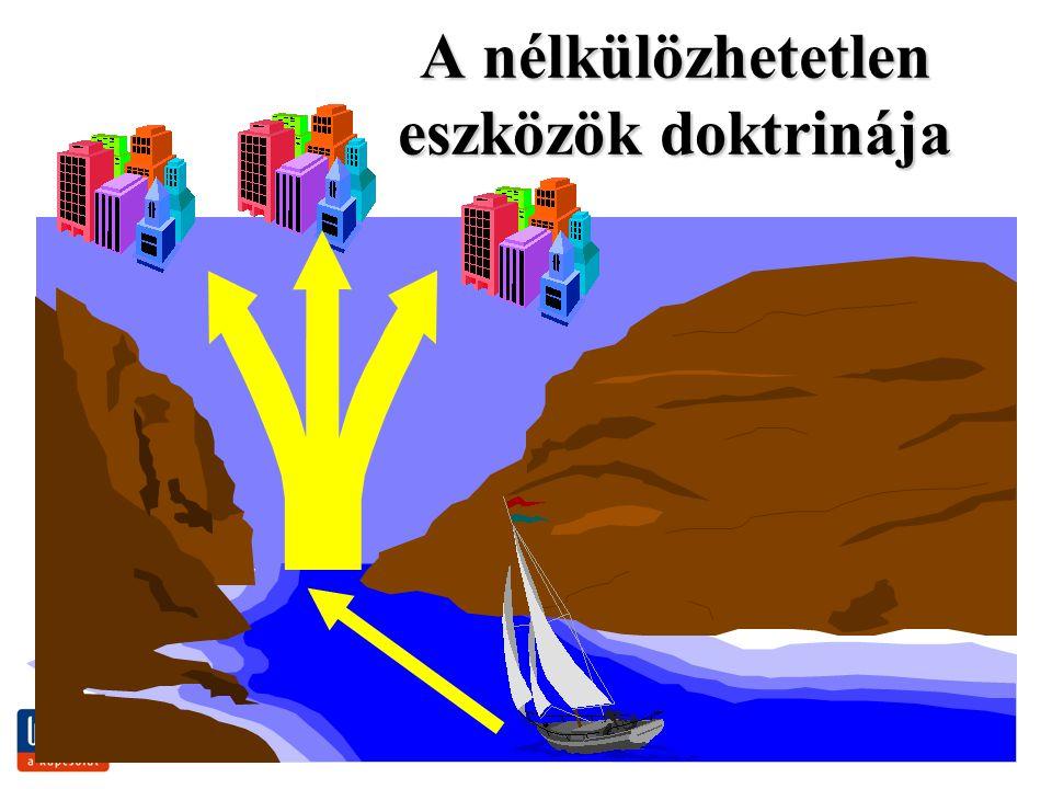 www.jogiforum.hu18 A nélkülözhetetlen eszközök doktrinája