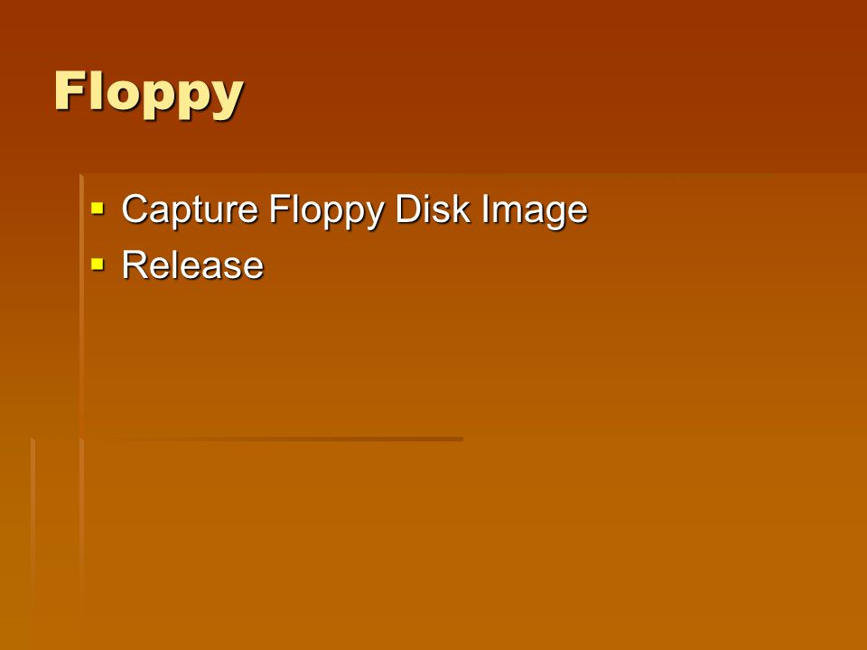 Floppy  Capture Floppy Disk Image  Release