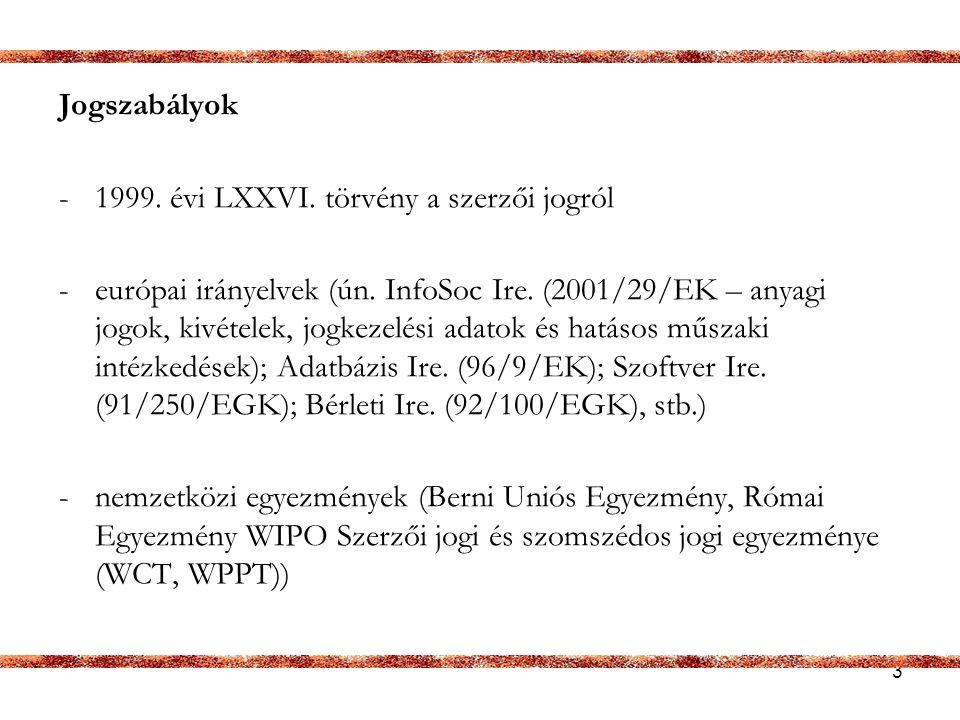 14 Egyes szabad felhasználási kivételek – könyvtárak VII.
