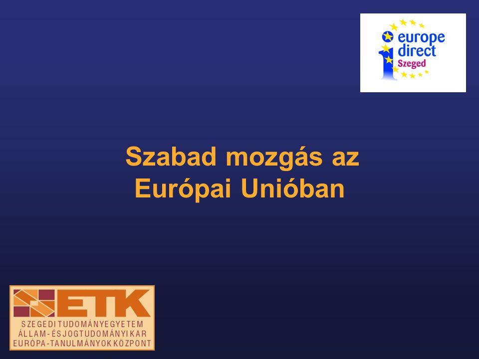 """Az uniós polgárság Maastrichti Szerződés (1992/93) """"Létrejön az uniós polgárság."""
