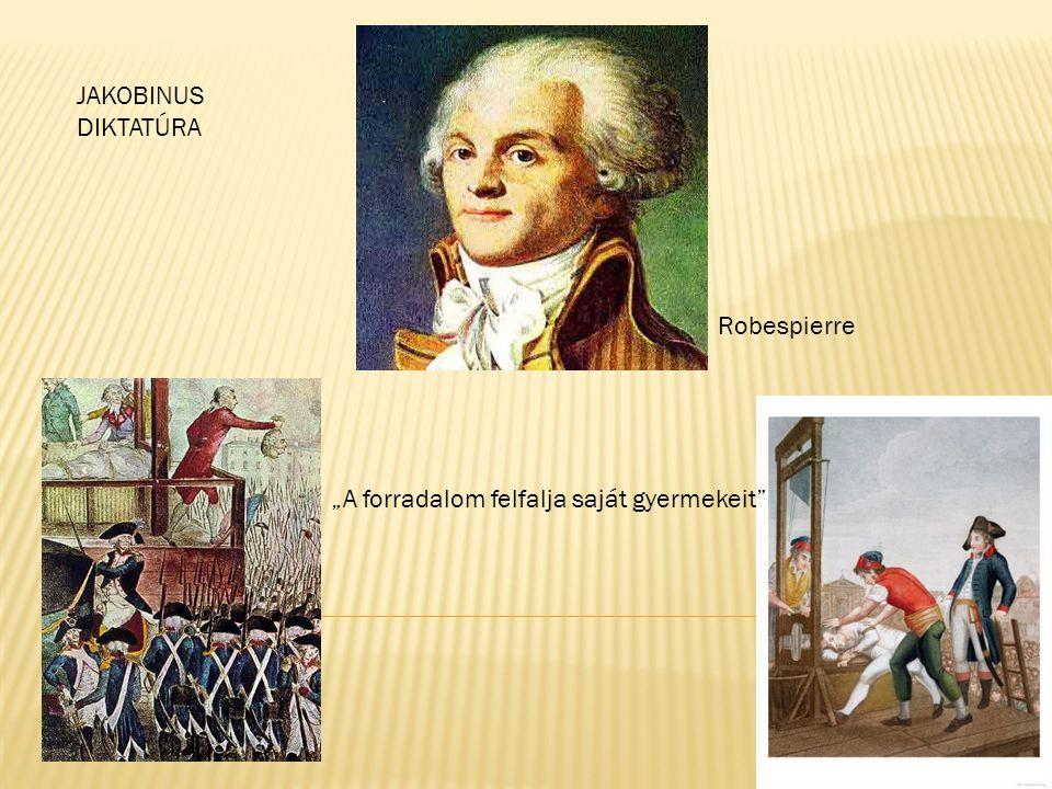 """A forradalom felfalja saját gyermekeit"" Robespierre JAKOBINUS DIKTATÚRA"