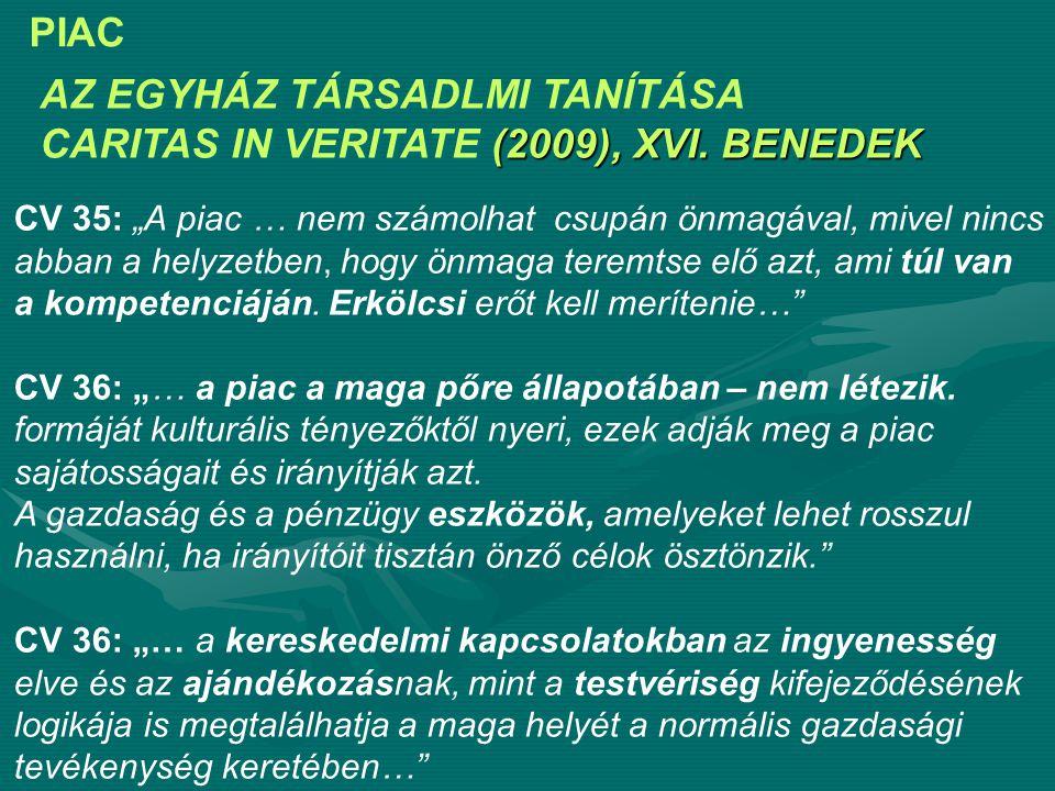 AZ EGYHÁZ TÁRSADLMI TANÍTÁSA (2009), XVI.BENEDEK CARITAS IN VERITATE (2009), XVI.