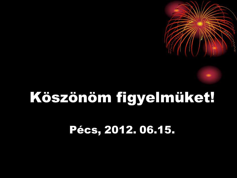 Köszönöm figyelmüket! Pécs, 2012. 06.15.
