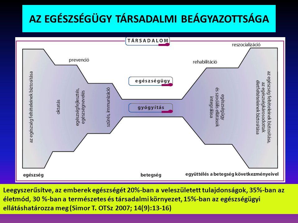 egészségi állapot (betegség, rendellenesség) a szervezet felépítése és tevékenység részvétel funkciói (akadályozottság) (korlátozottság) (károsodás) környezeti személyes tényezők közvetlen fizikaitágabb és társadalmitársadalmi (támogató vagy hátráltató) KONTEXTUÁLIS TÉNYEZŐK Az emberi lét meghatározó elemei