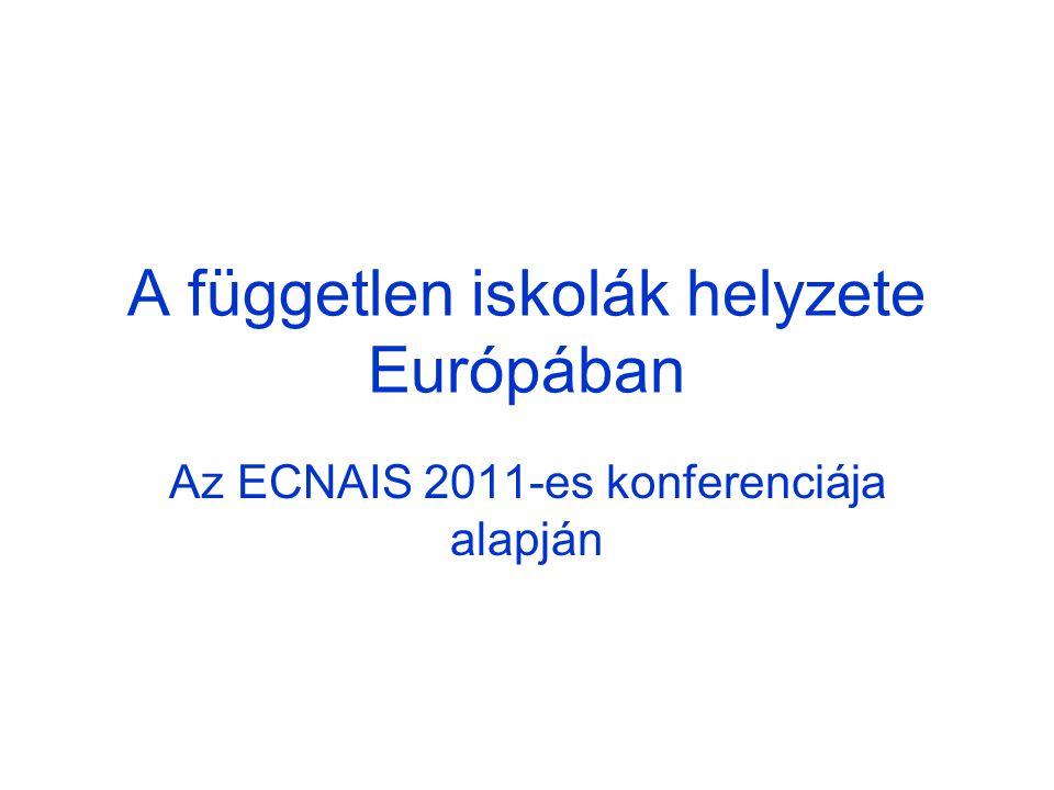 A független iskolák helyzete Európában Az ECNAIS 2011-es konferenciája alapján
