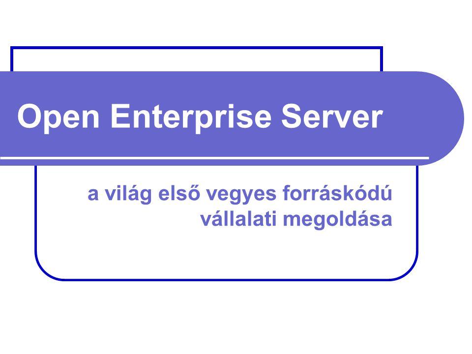 Open Enterprise Server a világ első vegyes forráskódú vállalati megoldása