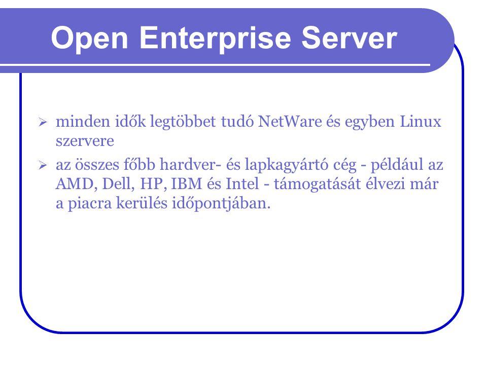 Open Enterprise Server  minden idők legtöbbet tudó NetWare és egyben Linux szervere  az összes főbb hardver- és lapkagyártó cég - például az AMD, De