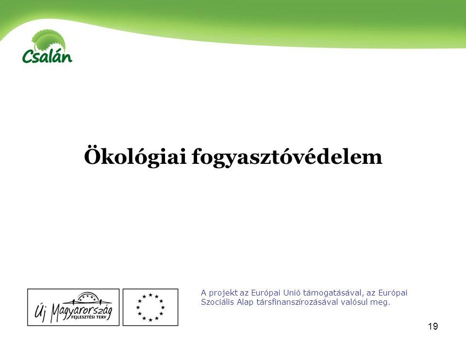 20 A vásárlásban szerepet játszó 3 tényező A projekt az Európai Unió támogatásával, az Európai Szociális Alap társfinanszírozásával valósul meg.