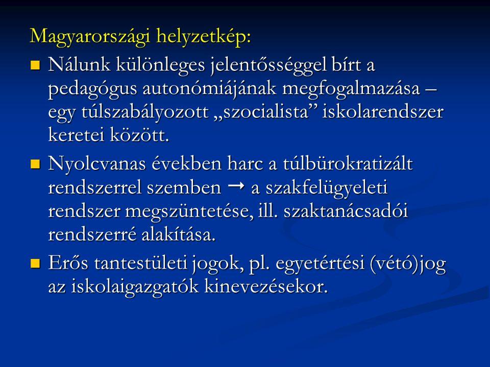 """Magyarországi helyzetkép: Nálunk különleges jelentősséggel bírt a pedagógus autonómiájának megfogalmazása – egy túlszabályozott """"szocialista"""" iskolare"""