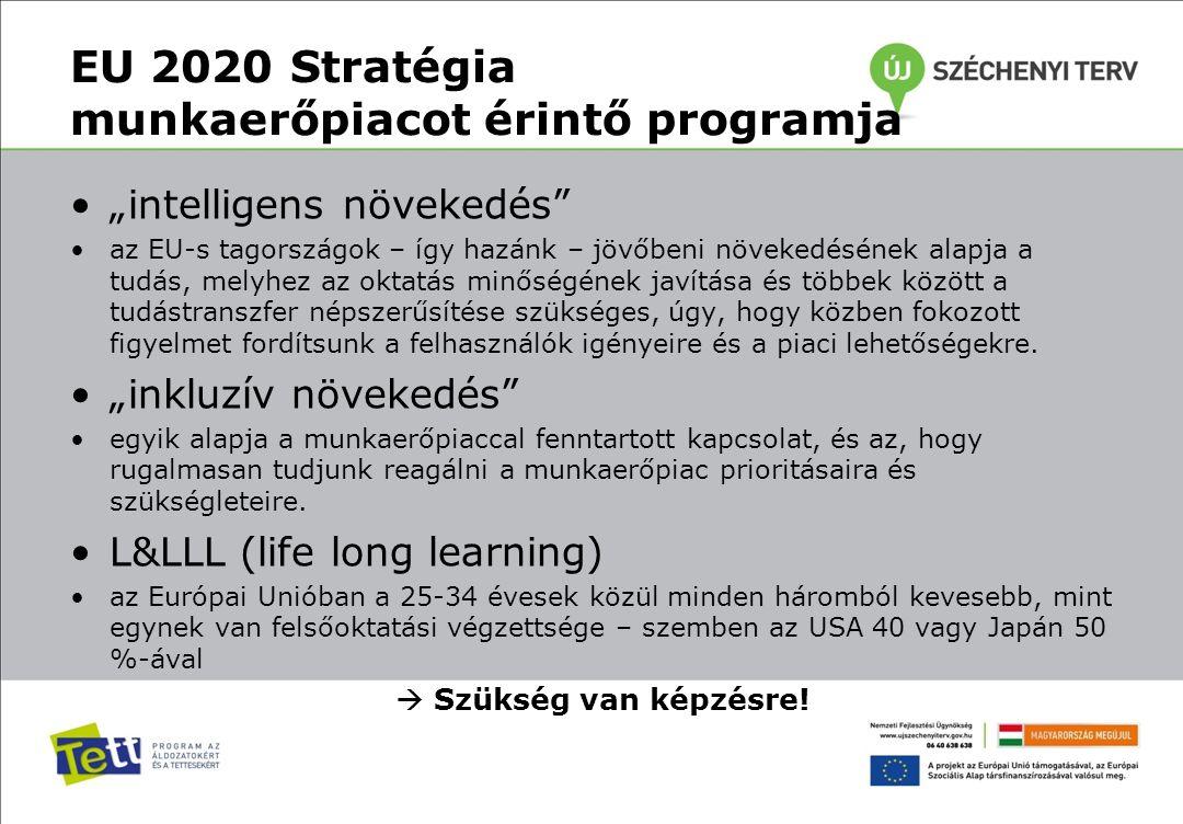 """EU 2020 Stratégia munkaerőpiacot érintő programja """"intelligens növekedés"""" az EU-s tagországok – így hazánk – jövőbeni növekedésének alapja a tudás, me"""