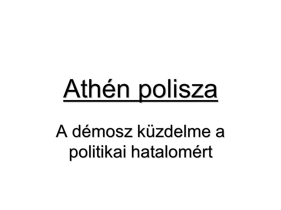 Athén polisza A démosz küzdelme a politikai hatalomért