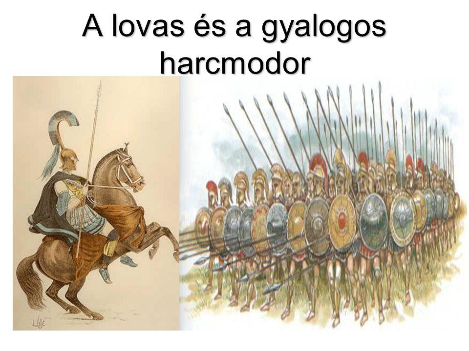 A lovas és a gyalogos harcmodor