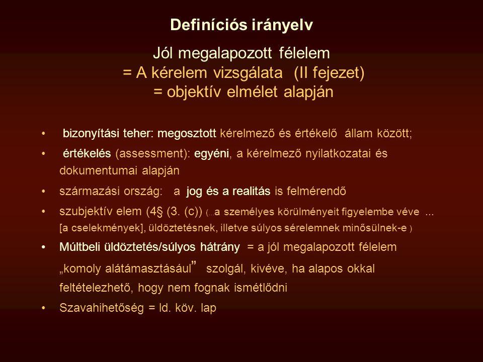 Definíciós irányelv - Kiegészítő védelem Ld.