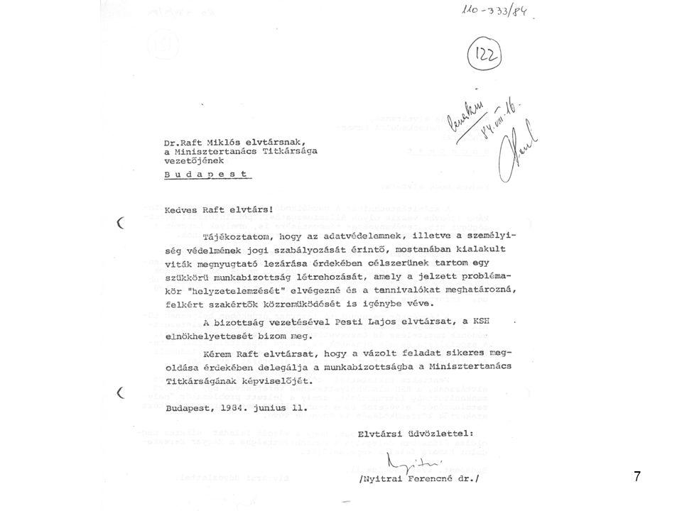18 1990 Az országgyűlési választásokat követően a KSH elnöke felszámolja a Számítástechnika-alkalmazási Főosztályt.